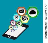 flat design vector social media ... | Shutterstock .eps vector #528895477