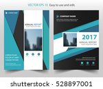 blue abstract triangle annual... | Shutterstock .eps vector #528897001