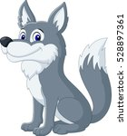 cute wolf cartoon | Shutterstock .eps vector #528897361