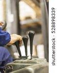 worker on forklift | Shutterstock . vector #528898339