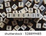 Bargain word concept