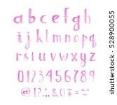 watercolor font   Shutterstock . vector #528900055