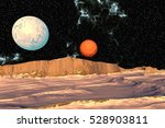 landscape of stranger planet.... | Shutterstock . vector #528903811