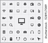 monitor icon. device icons... | Shutterstock . vector #528917089