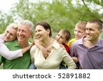 large family plays in the...   Shutterstock . vector #52891882