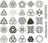 set of symbols icons vector....   Shutterstock .eps vector #52891903