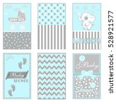 baby shower  postcard  greeting ... | Shutterstock .eps vector #528921577