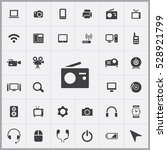 radio icon. device icons... | Shutterstock . vector #528921799