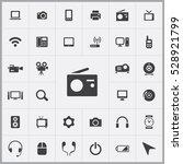 radio icon. device icons...   Shutterstock . vector #528921799