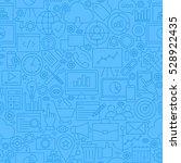 seo blue line seamless pattern. ... | Shutterstock .eps vector #528922435