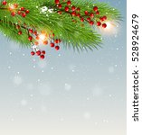 christmas background with green ... | Shutterstock .eps vector #528924679