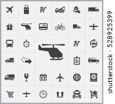 helicopter icon. delivery icons ... | Shutterstock . vector #528925399
