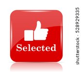 selected icon. selected website ... | Shutterstock . vector #528929335