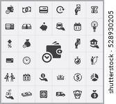 time money icon. credit icons... | Shutterstock . vector #528930205