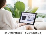 young woman at home checking... | Shutterstock . vector #528930535