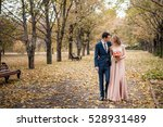 romantic embrace of newlyweds....   Shutterstock . vector #528931489