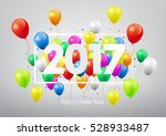 happy new year 2017 with... | Shutterstock .eps vector #528933487