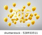 happy new year 2017 with gold... | Shutterstock .eps vector #528933511