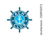vector logo yacht | Shutterstock .eps vector #528933571