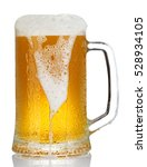 cold mug of beer with foam... | Shutterstock . vector #528934105