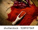 red hot dry chili pepper and... | Shutterstock . vector #528937369
