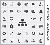 business strategy icons... | Shutterstock . vector #528940315