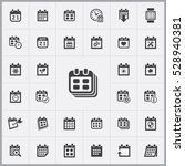 date icon. calendar icons... | Shutterstock . vector #528940381