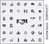 handshake icon. business... | Shutterstock . vector #528941377