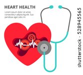 health care cardiology creative ... | Shutterstock .eps vector #528945565