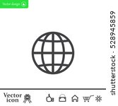 the globe icon. flat vector...