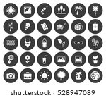 summer icons set | Shutterstock .eps vector #528947089