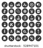 industrial icons set | Shutterstock .eps vector #528947101