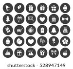 holiday icons set | Shutterstock .eps vector #528947149