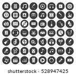 music icons set | Shutterstock .eps vector #528947425