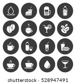 drink icons  | Shutterstock .eps vector #528947491