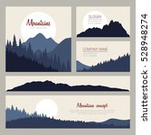 outdoor cards design with... | Shutterstock .eps vector #528948274