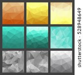 set of polygonal triangle... | Shutterstock .eps vector #528948649