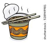 instant noodle cup   cartoon... | Shutterstock .eps vector #528949981