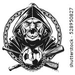 pit bull ultras | Shutterstock .eps vector #528950827
