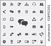 chat icon. communication icons... | Shutterstock . vector #528952201