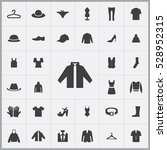 clothes icons universal set for ... | Shutterstock . vector #528952315
