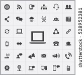 laptop icon. communication... | Shutterstock . vector #528952381