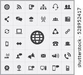 globe icon. communication icons ... | Shutterstock . vector #528952417