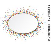 white oval banner with shiny...   Shutterstock .eps vector #528956551