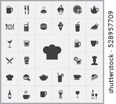 chef hat icon. cafe icons... | Shutterstock . vector #528957709