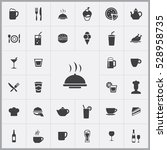 cafe icons universal set for... | Shutterstock . vector #528958735