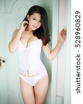 sexy asian japanese beautiful... | Shutterstock . vector #528960829