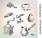 coffee set for cafes menu....   Shutterstock .eps vector #528964324
