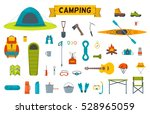 hiking equipment and gear icon... | Shutterstock . vector #528965059