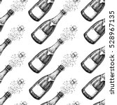 champagne seamless pattern.... | Shutterstock .eps vector #528967135